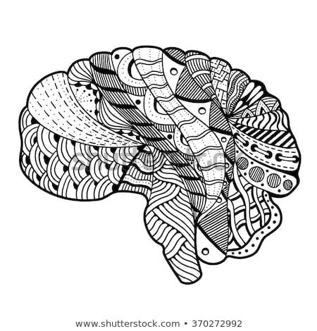 mandala cerveau à colorier